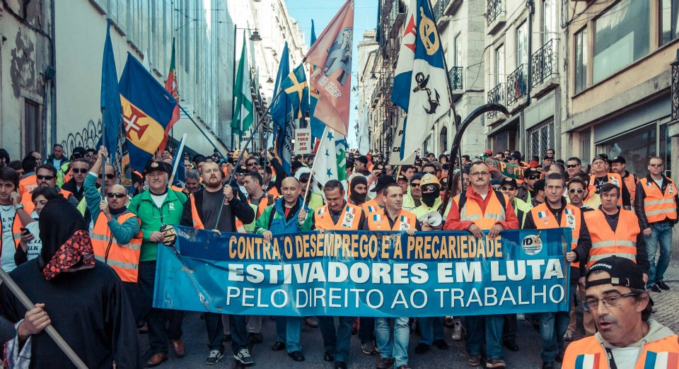European-Wide Dockworkers Mobilization, Lisbon, Portugal